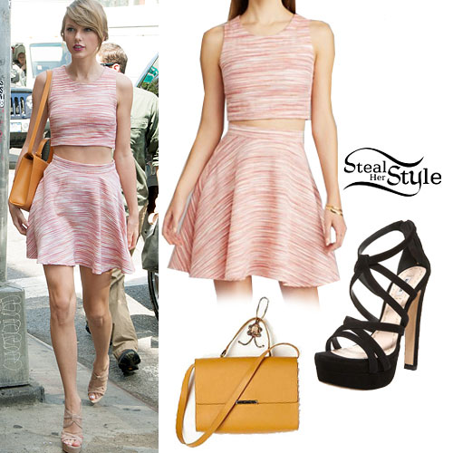 Taylor Swift: Pink Crop Top & Skirt