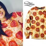 Victoria Justice: Pepperoni Pizza Crewneck