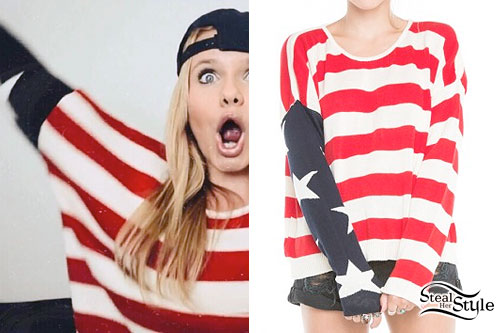 Alli Simpson: American Flag Sweater
