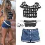 Allison Green: Lucky Cat Tee, Denim Shorts