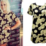 Amelia Lily: Gold Coin Print Dress