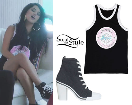 Becky G Shower Music Video Outfits Steal Her Style