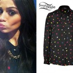 Cher Lloyd: Rainbow Star Print Blouse