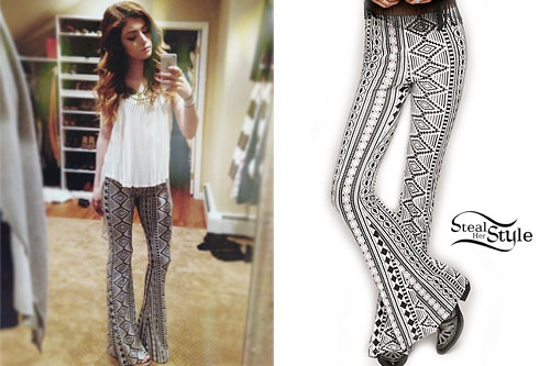 Chrissy Costanza: Tribal Print Bell Bottoms
