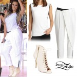 Dinah Jane Hansen: Zip Top, White Pants