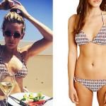 Ellie Goulding: Turtle Print Triangle Bikini