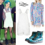 Hayley Williams: Marble Blouse, White Shortalls