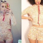Kreayshawn: Popcorn Hoodie & Shorts