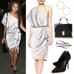Leigh-Anne Pinnock: One Shoulder Dress Outfit