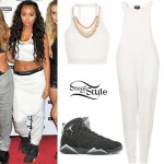 Leigh-Anne Pinnock: Crop Top, White Jumpsuit