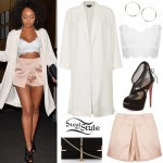 Leigh-Anne Pinnock leaving Nobu Restaurant in London. July 5th, 2014 - photo: little-mix.org