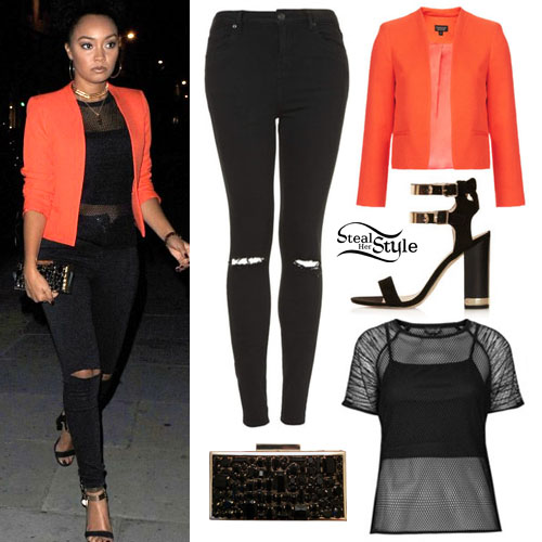 Leigh Anne Pinnock leaving Steam & Rye, July 28th, 2014 - photo: littlemixbrasil