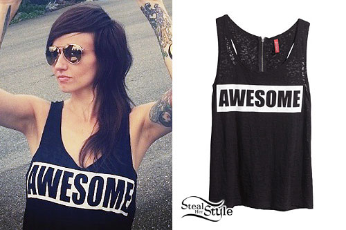 "LIGHTS: Black ""Awesome"" Tank Top"