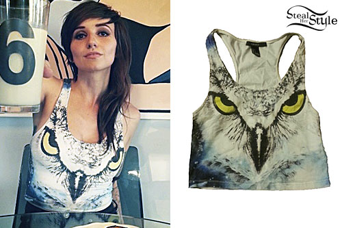 LIGHTS: Owl Face Crop Top