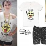 Mariel Loveland: Hell Yeah Tee, Lace Shorts
