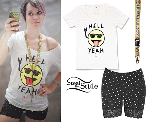 Mariel Loveland: Hell Yeah Tee, Lace Shorts