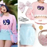 Melanie Martinez: Monster Sweatshirt Outfit