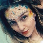 perrie-edwards-face-paint
