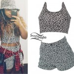 Reginae Carter: Black/White Print Top & Shorts