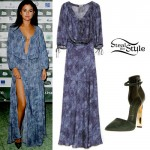 Selena Gomez: Maxi Dress, Suede Pumps