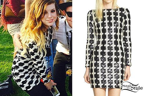 Sydney Sierota: Black & White Sequin Dress