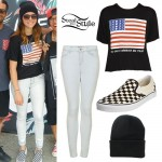 Tay Jardine: Flag T-Shirt, Checkered Vans