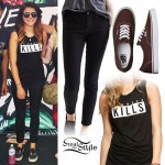 Tay Jardine: Glamour Kills Tee, Brown Vans