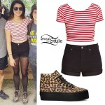 Tay Jardine: Leopard Platform Sneakers Outfit