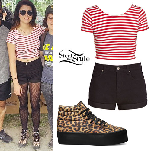 fe61358a9fa9d9 Tay Jardine  Leopard Platform Sneakers Outfit