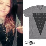 Tay Jardine: Gray Triangle Pizza Tee
