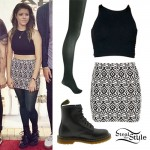 Tay Jardine: Tribal Print Skirt Outfit