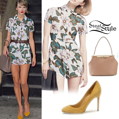 Taylor Swift: Floral Romper, Yellow Pumps