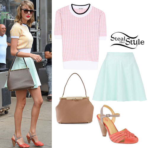 Taylor Swift: Pastel Skirt & Crop Top