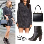 Taylor Swift: Print Shirt Dress, Ankle Booties