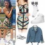 Zendaya: Printed Corset Dress Outfit