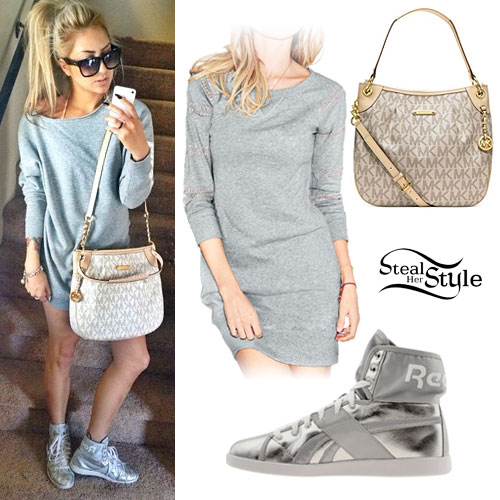 Allison Green: MK Logo Bag, Silver High-Tops