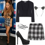 Ariana Grande at Hits #1 Sirius XM. August 25th, 2014 - photo: arianatoday