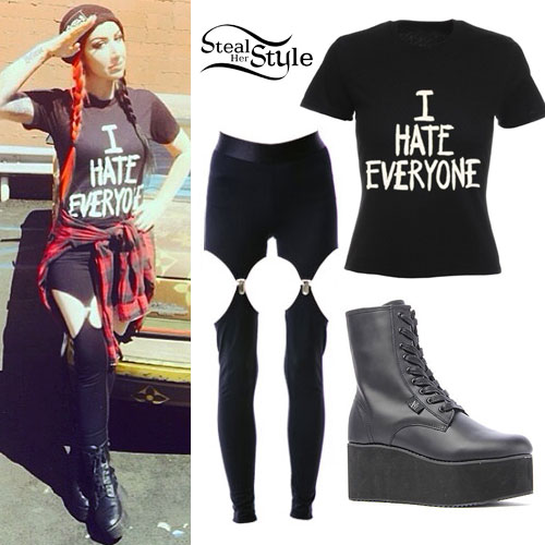 Ash Costello: 'I Hate Everyone' Tee Outfit