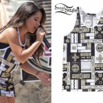 Becky G: Gold Print Mesh Athletic Top