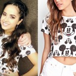 Becky G: Mickey Mouse Cropped Tee