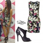 Becky G: Tropical Print Tank Dress