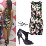 Becky G: Tropical Print Tank Dress