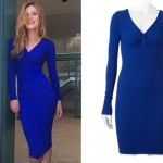 Bella Thorne: Blue Long Sleeve Dress