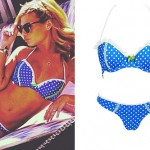 Chanel West Coast: Blue Polka Dot Bikini