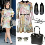 Demi Lovato: Collar Dress Outfit