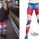 DEV: Red White & Blue Colorblock Leggings