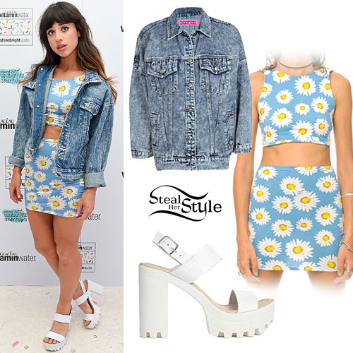 Foxes: Daisy Print Crop Top & Skirt