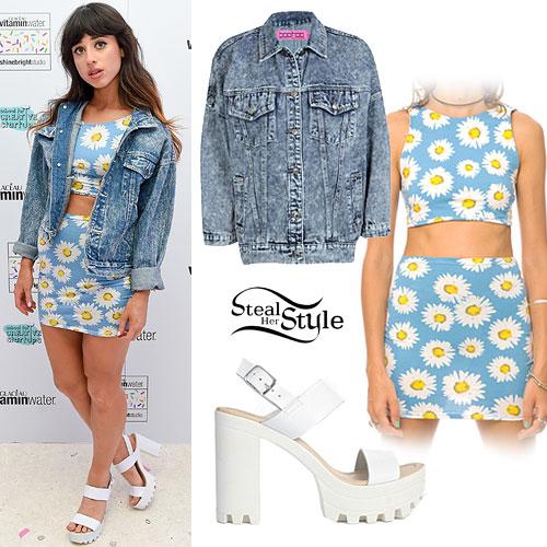 Foxes: Daisy Print Crop Top & Skirt