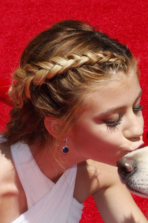 G Hannelius Straight Honey Blonde Braid French Braid