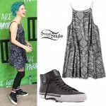 Hayley Williams: Paisley Dress, High-Tops
